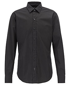 BOSS Men's Slim-Fit Stretch Poplin Shirt