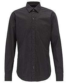 BOSS Men's Slim-Fit Stretch Poplin Shirt