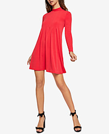 BCBGeneration Pleated Mock-Neck Dress