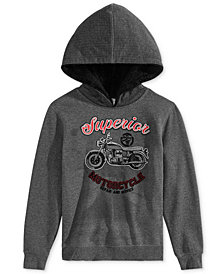 Epic Threads Big Boys Moto Hoodie, Created for Macy's