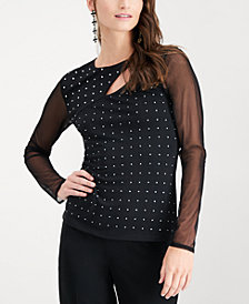 I.N.C. Studded Illusion Top, Created for Macy's