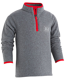 Under Armour Little Boys Heathered 1/4-Zip Fleece Shirt
