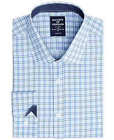 Society of Threads Men's Slim-Fit 4-Way Stretch  Check Dress Shirt