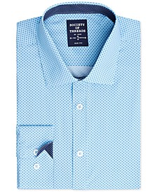 Men's Slim-Fit Performance Stretch Diamond  Dress Shirt