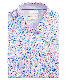 Con.Struct Men's Slim-Fit Stretch Floral Dress Shirt