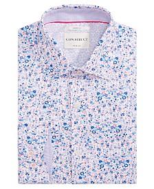 Con.Struct Men's Slim-Fit Stretch Floral Dress Shirt