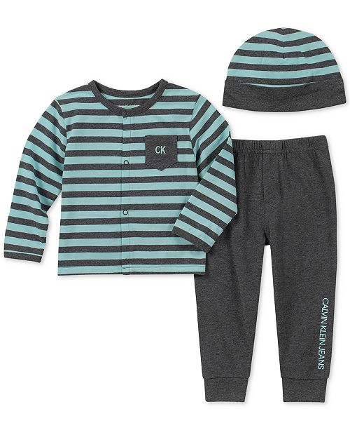 a9ef8acaf Calvin Klein Baby Boys 3-Pc. Striped Hat