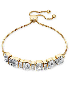 Charter Club Gold-Tone Crystal Slider Bracelet, Created for Macy's