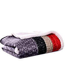Eddie Bauer Fair Isle Steel Throw
