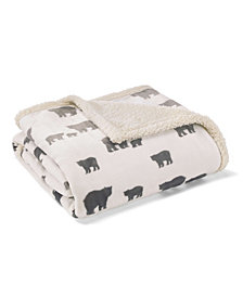 Eddie Bauer Bear Village Light Beige Throw
