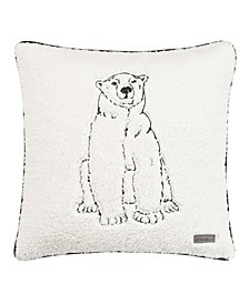 Cozy Polar Bear Natural Square Pillow