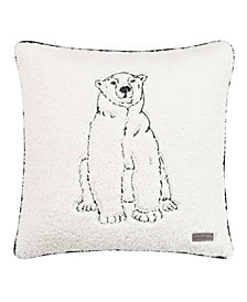 Eddie Bauer Cozy Polar Bear Natural Square Pillow