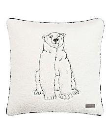 Eddie Bauer Cozy Polar Bear Natural Square Pillow