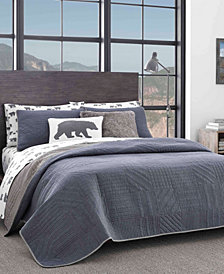Eddie Bauer Hidden Lake Chambray Blue King Quilt Set