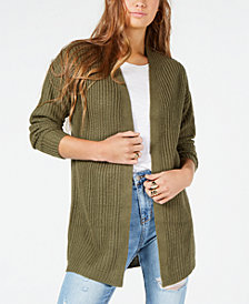 Planet Gold Juniors' Lace-Up Open-Front Cardigan