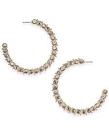 Thalia Sodi Crystal Hoop Earrings, Created for Macy's