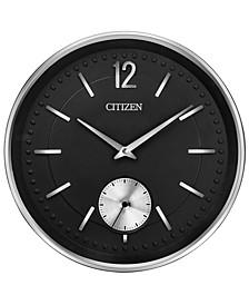 Gallery Silver-Tone & Black Wall Clock