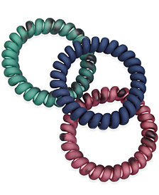 I.N.C. 3-Pc. Matte Spiral Ponytail Holders, Created for Macy's
