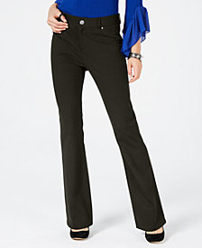 I.N.C. Petite Ponte Bootcut Pants, Created for Macy's