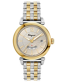 Ferragamo Men's Swiss Feroni Two-Tone Stainless Steel Bracelet Watch 40mm