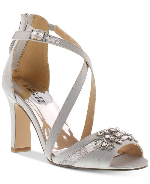 15c06e363 ... Badgley Mischka Little & Big Girls Kendall Hannah Heeled Sandals ...
