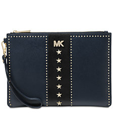 MICHAEL Michael Kors Studded Zip Clutch
