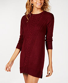 American Rag Juniors' Cable-Knit Sweater Dress, Created for Macy's