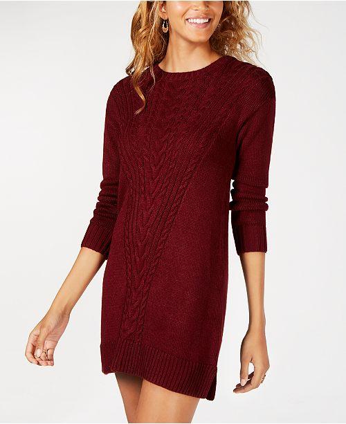 a5d8de8e9d6 ... American Rag Juniors  Cable-Knit Sweater Dress