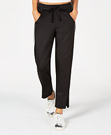 Material Girl Juniors' Floral-Print Zip-Detail Jogger Pants, Created for Macy's