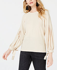 Sage The Label Cotton Tie-Cuff Top