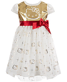 Hello Kitty Little Girls Sequin Velvet Dress