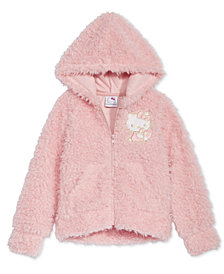 Hello Kitty Little Girls Zip-Up Faux-Fur Hoodie