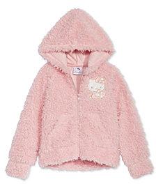 Hello Kitty Little Girls Zip-Up Faux-Fur Hoodie