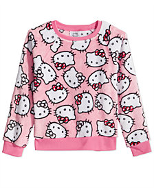 Hello Kitty Little Girls Printed Plush Sweatshirt