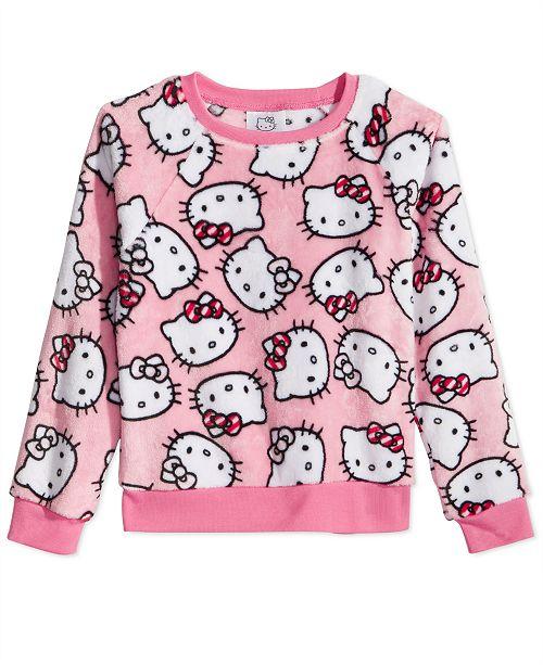 4b4ba6d76 Hello Kitty Little Girls Printed Plush Sweatshirt & Reviews ...