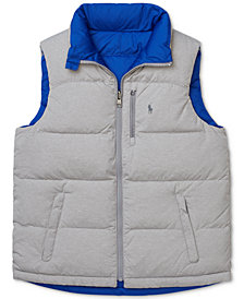 Polo Ralph Lauren Big Boys Reversible Down Vest