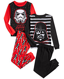 Star Wars Little & Big Boys 4-Pc. Darth Vader Pajama Set
