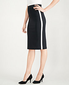 Alfani Side-Stripe Midi Pencil Skirt, Created for Macy's