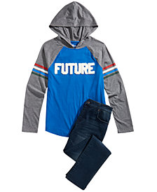 Epic Threads Big Boys Hooded Shirt & Jeans Separates, Created for Macy's