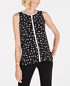 Alfani Petite Floral-Print Top, Created for Macy's