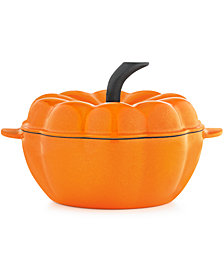 CLOSEOUT!Martha Stewart Collection 2-Qt. Figural Cast Iron Sparkle Pumpkin, Created for Macy's