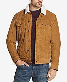 Weatherproof Vintage Men's Corduroy Fleece-Lined Trucker Jacket, Created for Macy's