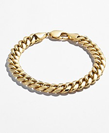 Men's Cuban Chain Link Bracelet in 14k Gold