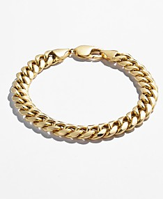 3783ee75464 Cuban Chain Link Bracelet in 14k Gold