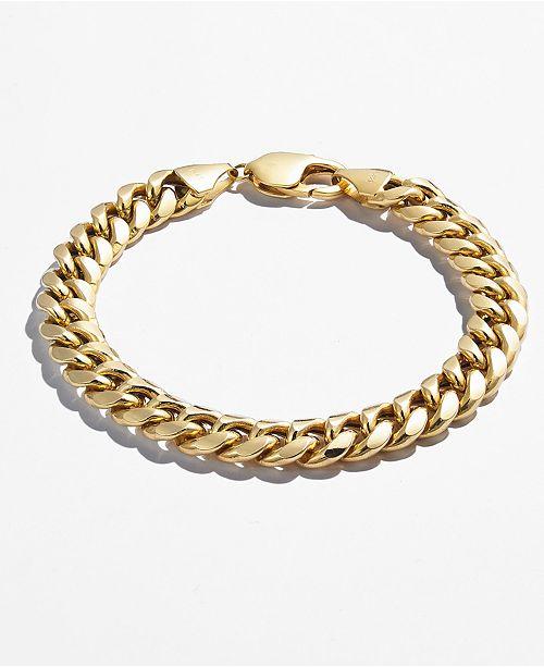 Cuban Chain Link Bracelet In 14k Gold