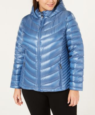 Plus Size Hooded Packable Down Coat