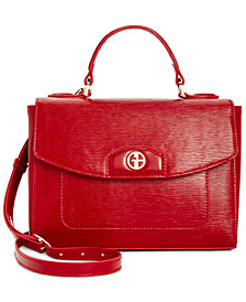 Giani Bernini Bark Patent Top-Handle Crossbody, Created for Macy's