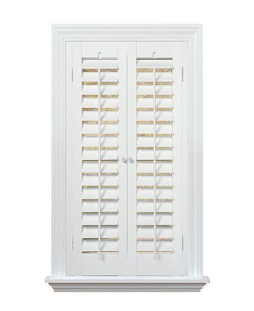 "Home Basics Plantation Faux Wood Interior Shutter, 29-31""  W x 36"""