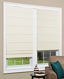 "Cordless Texture Look Room Darkening Fabric Roman Shade, 23""x 64"""