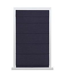 "Cordless Texture Look Room Darkening Fabric Roman Shade, 31""x64"""